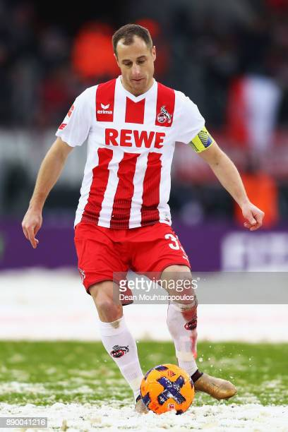 Matthias Lehmann of FC Koeln in action during the Bundesliga match between 1 FC Koeln and SportClub Freiburg at RheinEnergieStadion on December 10...
