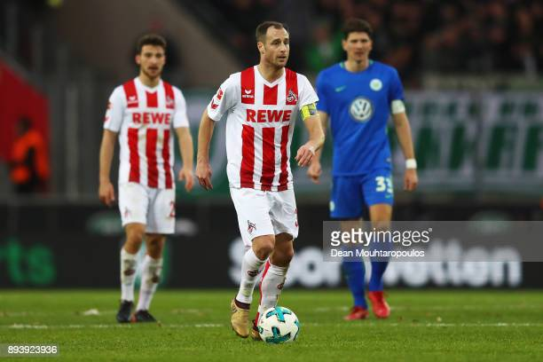 Matthias Lehmann of FC Koeln in action during the Bundesliga match between 1 FC Koeln and VfL Wolfsburg at RheinEnergieStadion on December 16 2017 in...