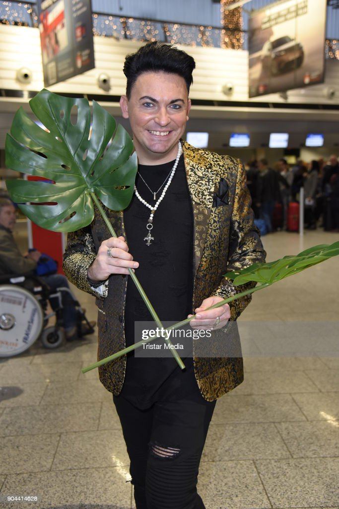 Matthias Mangiapane leaves for 'I'm a celebrity- Get Me Out Of Here!' ('Ich bin ein Star - Holt mich hier raus!') in Australia at Frankfurt International Airport on January 13, 2018 in Frankfurt am Main, Germany. 'I'm a celebrity - Get Me Out Of Here!' ('Ich bin ein Star - Holt mich hier raus!'), also known as 'Jungle Camp' ('Dschungel- Camp') is an annual Germany TV show.
