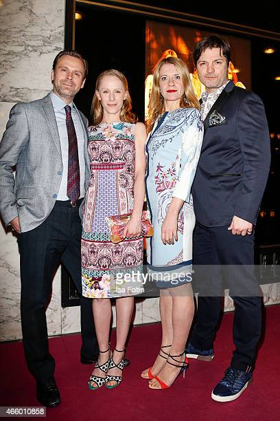 Matthias Matschke, Susanne Wuest, Caroline Peters and Misel Maticevic attend the Etro Store Opening on March 12, 2015 in Berlin, Germany.