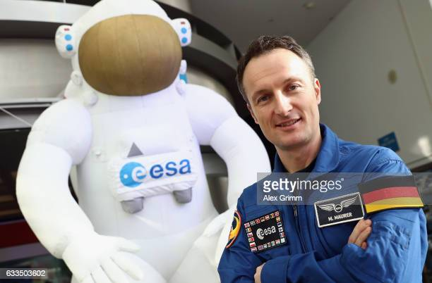 Matthias Maurer the newest astronaut of the European Space Agency poses after a press conference at ESA's central space mission control facility on...