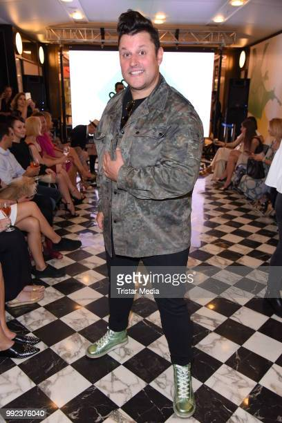 Matthias Maus attends the Fashion2Show show during the Berlin Fashion Week Spring/Summer 2019 at Quartier 206 on July 5 2018 in Berlin Germany
