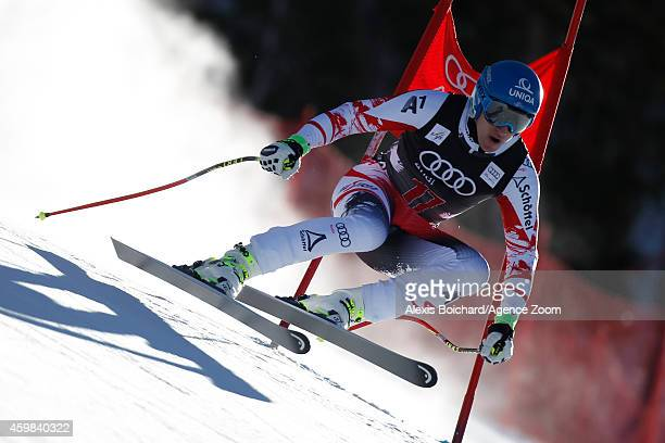 Matthias Mayer of Austria competes during the Audi FIS Alpine Ski World Cup Men's Downhill Training on December 02 2014 in Beaver Creek Colorado