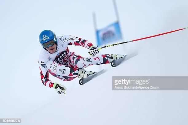 Matthias Mayer of Austria competes during the Audi FIS Alpine Ski World Cup Men's SuperG on December 18 2015 in Val Gardena Italy