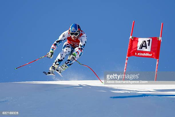 Matthias Mayer of Austria competes during the Audi FIS Alpine Ski World Cup Men's SuperG on January 20 2017 in Kitzbuehel Austria