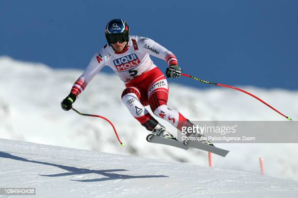 Matthias Mayer of Austria in action during the FIS World Ski Championships Men's and Women's Downhill Training on February 7 2019 in Are Sweden