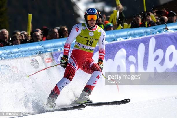 Matthias Mayer of Austria Ski Team during Mens SuperG Audi FIS Ski World Cup race on March 14 2019 in El Tarter Andorra