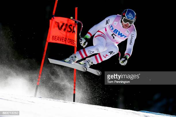 Matthias Mayer of Austria skis during the Audi FIS Alpine Ski World Cup Men's Downhill Training on November 30 2017 in Beaver Creek Colorado
