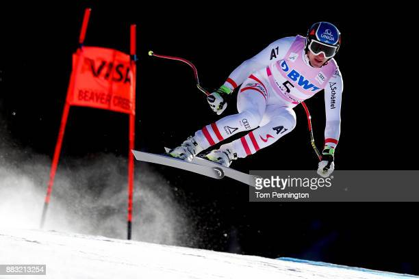 Matthias Mayer of Austria skis during the Audi FIS Alpine Ski World Cup Men's Downhill Training on November 30 2017 in Beaver Creek Colorado