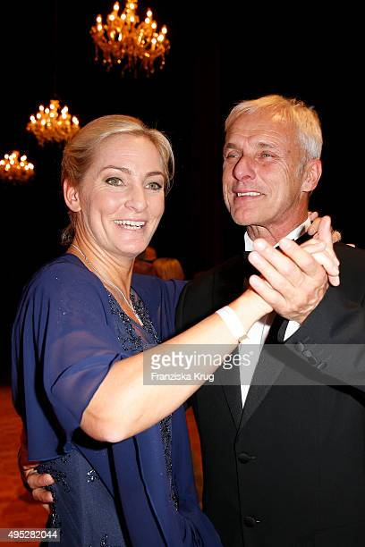 Matthias Mueller and Barbara Rittner attend the Leipzig Opera Ball 2015 on October 31 2015 in Leipzig Germany