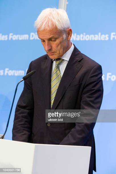 Matthias Mueller CEO of Volkswagen The Diesel Summit at the Federal Ministry of Transport and Digital Infrastructure on August 2 2017 in Berlin
