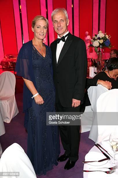 Matthias Mueller, CEO Volkswagen AG and his partner Barbara Rittner during the Leipzig Opera Ball 2015 on October 31, 2015 in Leipzig, Germany.