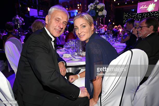 Matthias Mueller CEO Volkswagen AG and his partner Barbara Rittner during the Leipzig Opera Ball 2015 on October 31 2015 in Leipzig Germany