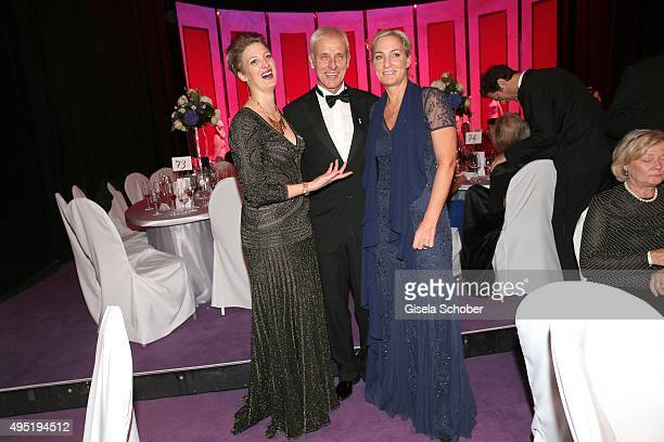 Matthias Mueller, CEO Volkswagen AG and his partner Barbara Rittner and his daughter Julia Ortmann during the Leipzig Opera Ball 2015 on October 31,...