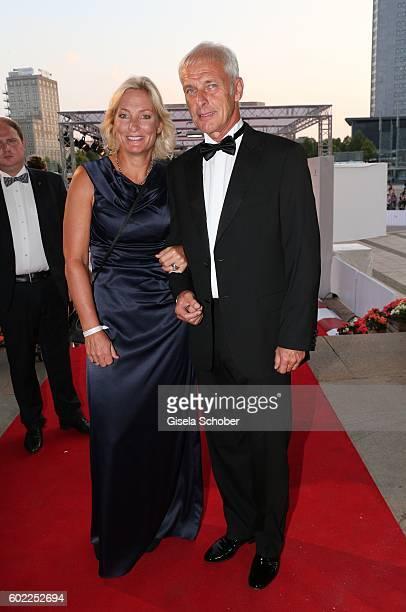 Matthias Mueller, CEO Volkswagen AG and his partner Barbara Rittner during the Leipzig Opera Ball 'Let's dance Dutch' at alte Oper on September 10,...