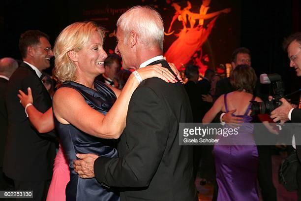 Matthias Mueller, CEO Volkswagen AG and his partner Barbara Rittner dance during the Leipzig Opera Ball 'Let's dance Dutch' at alte Oper on September...
