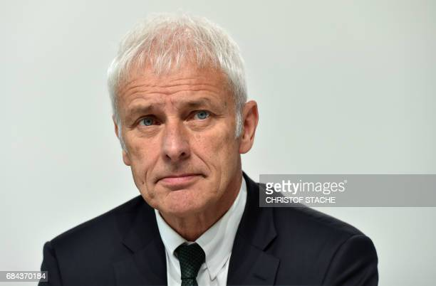 Matthias Mueller chairman of the supervisory board of German car maker Audi and CEO of German car maker Volkswagen is pictured prior the Audi AG...