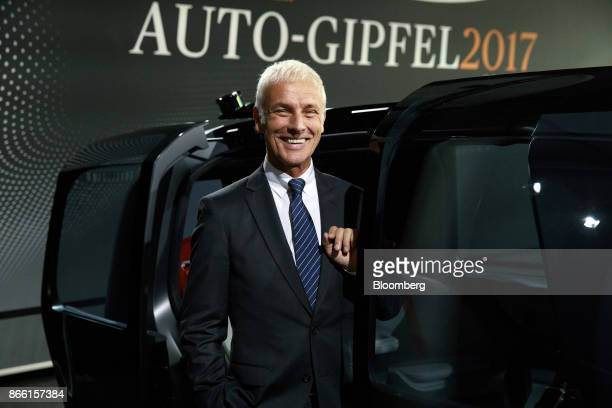 Matthias Mueller chief executive officer of Volkswagen AG poses for a photograph during the Handelsblatt auto industry conference in Sindelfingen...