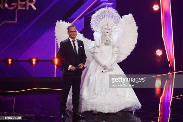 Matthias Opdenhoevel and Buelent Ceylan at the The Masked Singer finals at Coloneum on August 01 2019 in Cologne Germany