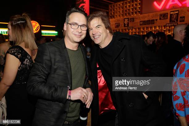 Matthias Opdenhoevel and Campino pose at the after party of the 1Live Krone radio award at Jahrhunderthalle on December 07 2017 in Bochum Germany