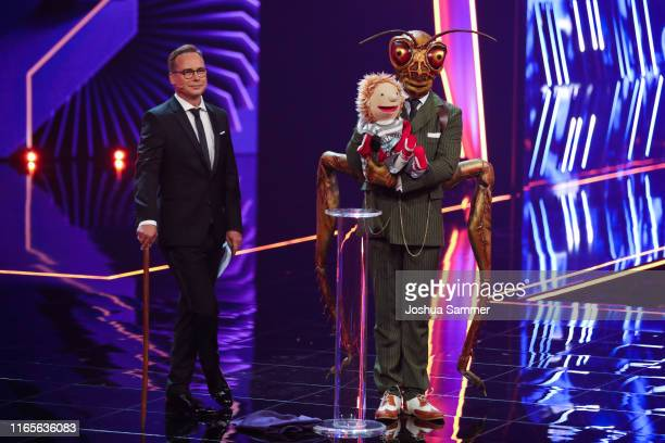 Matthias Opdenhoevel and Gil Ofarim at the The Masked Singer finals at Coloneum on August 01 2019 in Cologne Germany