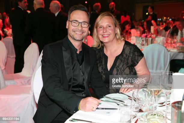 Matthias Opdenhoevel and his wife Alexandra Opdenhoevel during the Toni Kroos charity gala benefit to the Toni Kroos Foundation at 'The Palladium' on...