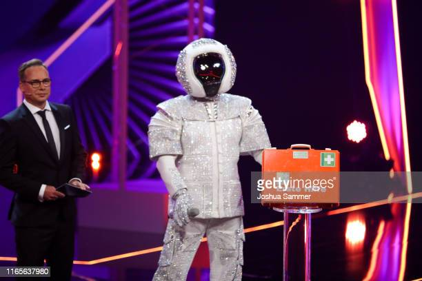 Matthias Opdenhoevel and Max Mutzke at the The Masked Singer finals at Coloneum on August 01 2019 in Cologne Germany