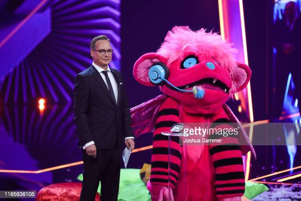 Matthias Opdenhoevel and Susi Kentikian at the The Masked Singer finals at Coloneum on August 01 2019 in Cologne Germany