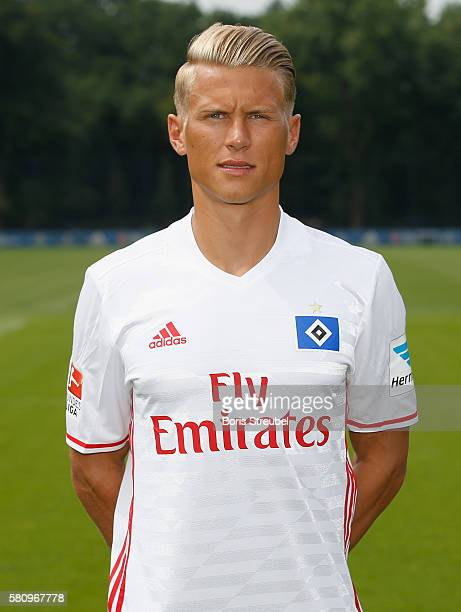 Matthias Ostrzolek of Hamburger SV poses during the Hamburger SV Team Presentation at Volksparkstadion on July 25 2016 in Hamburg Germany