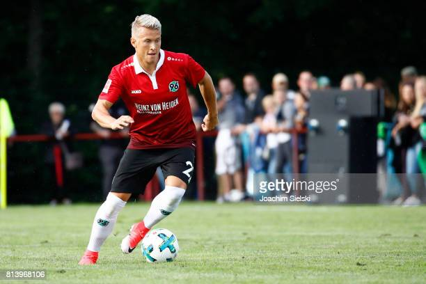Matthias Ostrzolek of Hannover 96 during the preseason friendly match between HSC Hannover and Hannover 96 at HSCStadion on July 2 2017 in Hanover...