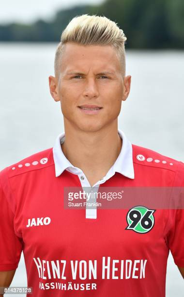 Matthias Ostrzolek of Hannover 96 poses during the team presentation at on July 14 2017 in Hanover Germany