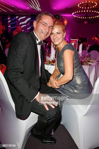 Matthias Platzeck and Jeanette Jesorka attend the TULIP Gala 2015 on October 10 2015 in Berlin Germany