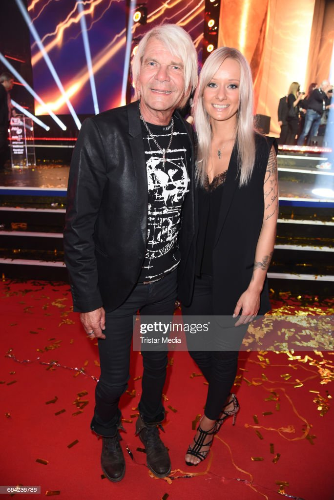 Matthias Reim and his girlfriend Christin Stark during the LEA - PRG Live Entertainment Award 2017 (LEA Award) After Show Party at Festhalle Frankfurt on April 3, 2017 in Frankfurt am Main, Germany.