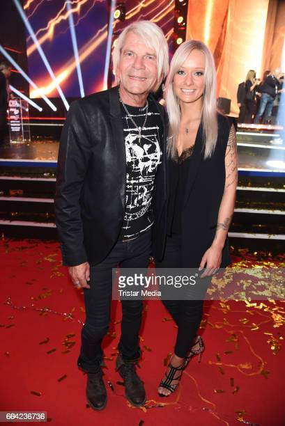 Matthias Reim and his girlfriend Christin Stark during the LEA PRG Live Entertainment Award 2017 After Show Party at Festhalle Frankfurt on April 3...