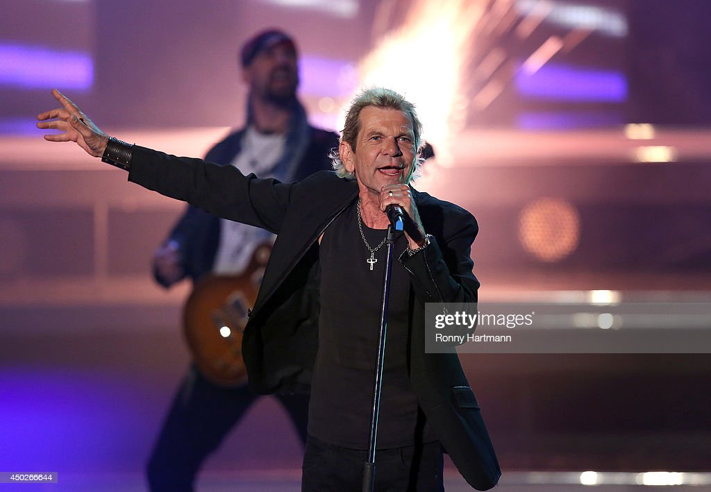 Matthias Reim performs during the 'Willkommen bei Carmen Nebel' show at GETEC Arena on June 07, 2014 in Magdeburg, Germany.