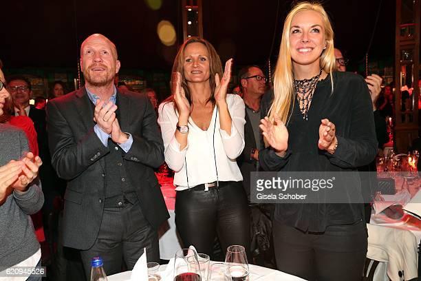 Matthias Sammer and his wife Karin Sammer and Sabine Lisicki during the VIP premiere of Schubeck's Teatro at Spiegelzelt on November 3 2016 in Munich...