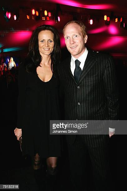 Matthias Sammer and wife Karen attend the Kitzrace Party January 27 in Kitzbuehel Austria