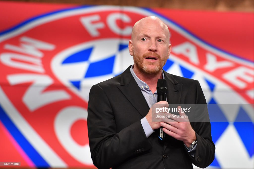 Matthias Sammer gestures during the Eurosport Bundesliga Media Day on August 16, 2017 in Unterfohring, Germany.