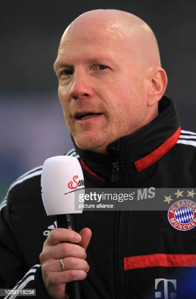 Matthias Sammer gives an interview at the tryout between Red Bull Salzburg and FC Bayern Munich in the Red Bull Arena in Salzburg Austria 18 January...