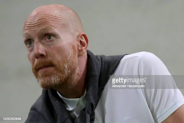 Matthias Sammer looks on during the DFB Cup first round match between SpVgg Greuther Fuerth and BVB Borussia Dortmund at Sportpark Ronhof Thomas...