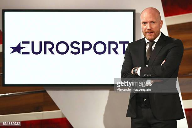 Matthias Sammer poses during a photocall at Eurosport studios on January 16 2017 in Munich Germany