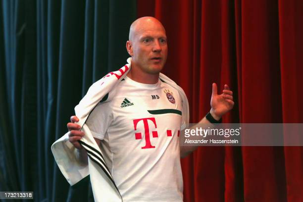 Matthias Sammer, sporting director of FC Bayern Muenchen arrives for a press conference at Centro Congressi on July 10, 2013 in Riva del Garda, Italy.