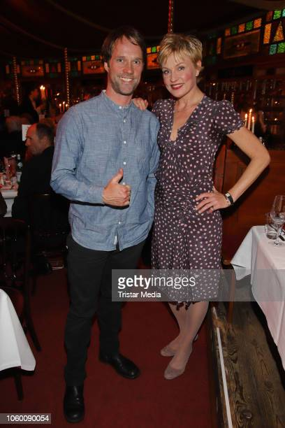 Matthias Schloo and Sanna Englund during the Cornelia Poletto Palazzo Gala Premiere on November 10 2018 in Hamburg Germany