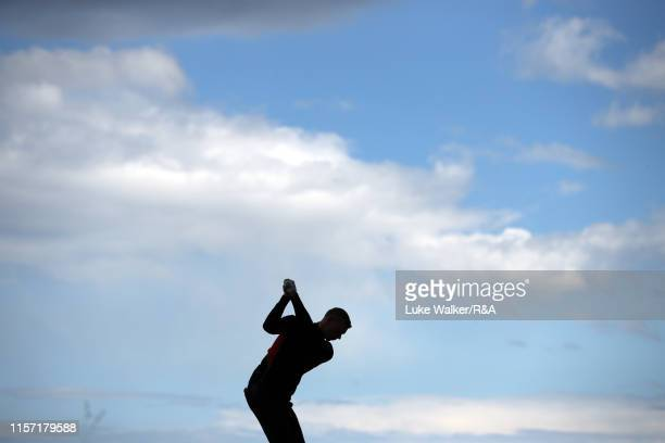 Matthias Schmid of Germany in action during day four of the RA Amateur Championship at Portmarnock Golf Club on June 20 2019 in Portmarnock Ireland