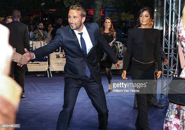 Matthias Schoenaerts and his girlfriend Alexandra Schouteden pictured at the premiere of the movie 'The Drop' at De Brouckere in Brussels