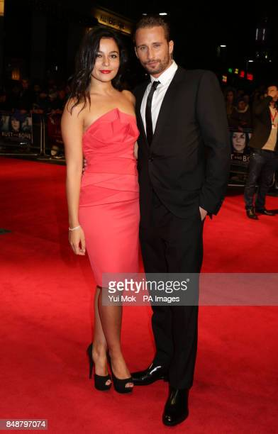 Matthias Schoenaerts and his partner Alexandra Schouteden arriving for the BFI London Film Festival screening of Rust And Bone at the Odeon West End...