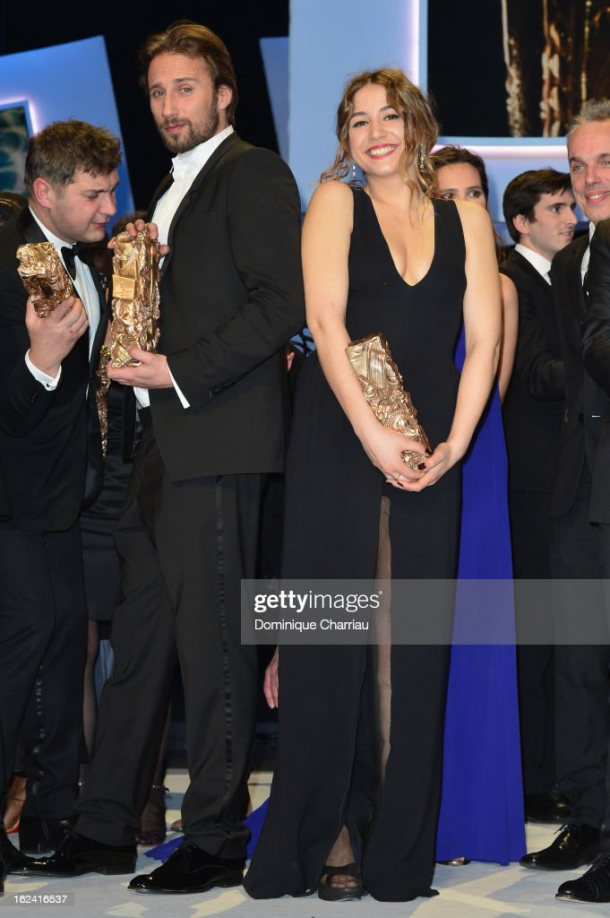 Matthias Schoenaerts and Izia Higelin attend the Cesar Film Awards 2013 at Theatre du Chatelet on February 22, 2013 in Paris, France.