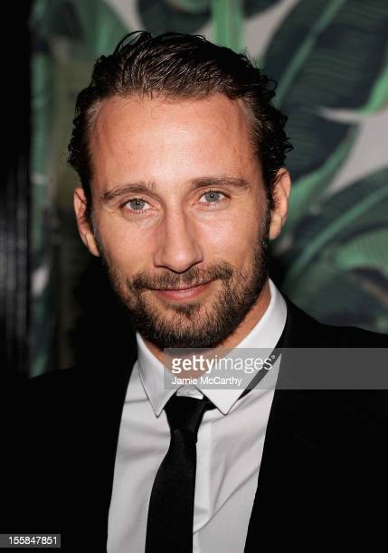 Matthias Schoenaerts attends after party for The Cinema Society with Dior Vanity Fair screening of Rust and Bone at Indochine on November 8 2012 in...