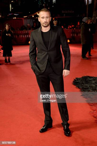 Matthias Schoenaerts attends the European Premiere of 'Red Sparrow' at Vue West End on February 19 2018 in London England