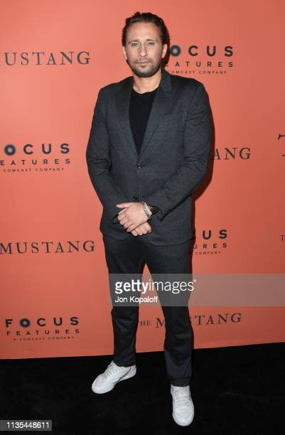 Matthias Schoenaerts attends the premiere of Focus Features' The Mustang at ArcLight Hollywood on March 12 2019 in Hollywood California